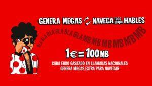Pepephone regalará 100MB gratis para navegar por cada euro gastado