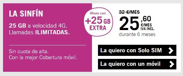 tarifas móviles con 10GB o más