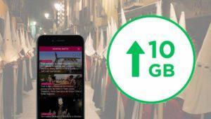 Las mejores tarifas móviles con 10GB o más para navegar en Semana Santa