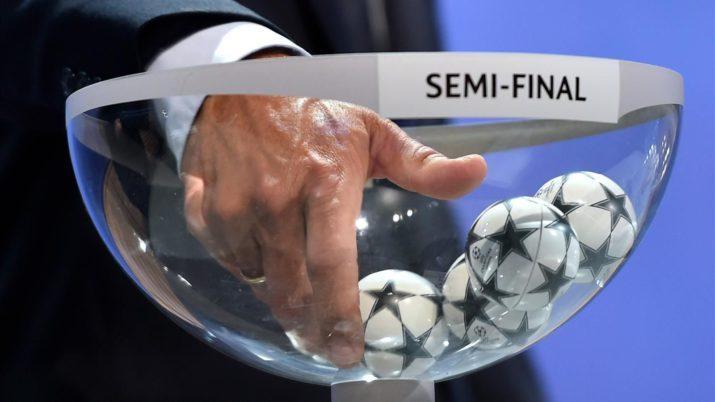 sorteo de semifinales de Champions