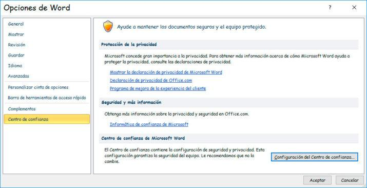 vista protegida documento Word