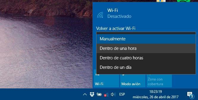 activar el WiFi