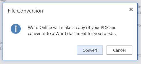 PDF a word office online