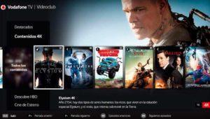 Vodafone ofrecerá cine de estreno y películas en 4K