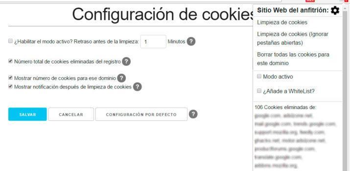 borrar las cookies