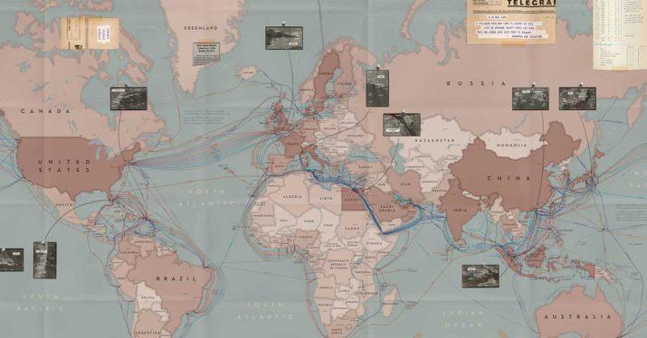 Mapa de todos los cables submarinos del mundo
