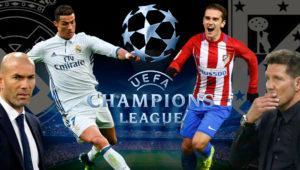 Cómo ver el Real Madrid – Atlético de Madrid de Champions: online, desde el móvil y en TV
