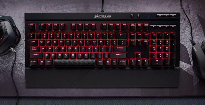 corsair k68 teclado mecanico cherry mx red