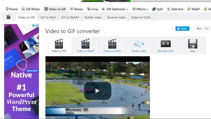 Hacer un GIF de un vídeo