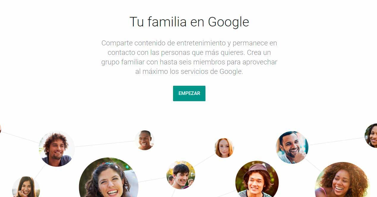 grupo familiar de Google