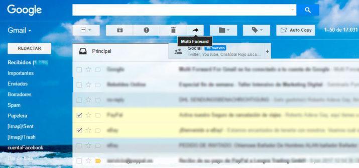 reenviar en gmail