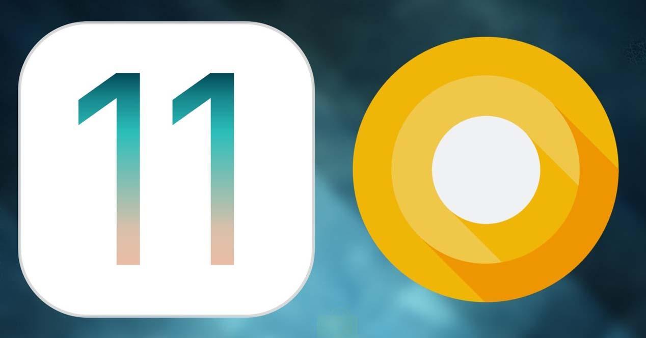 android o vs ios 11