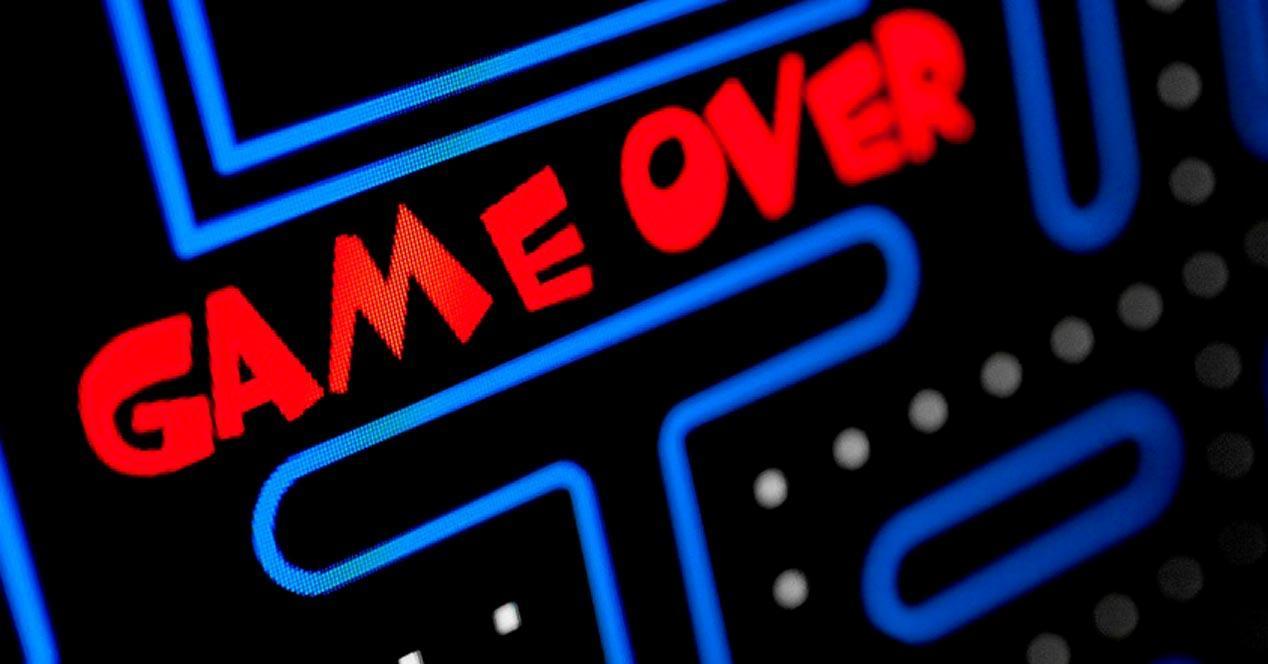 game over videojuego