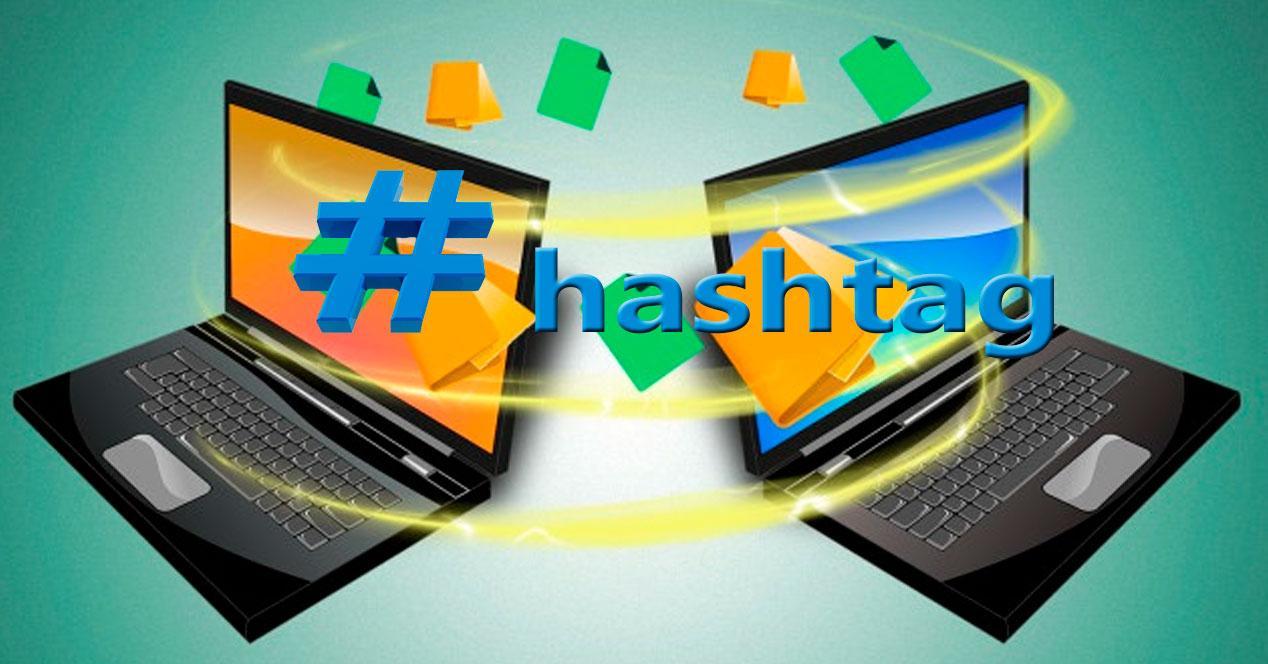 compartir archivos con hashtag