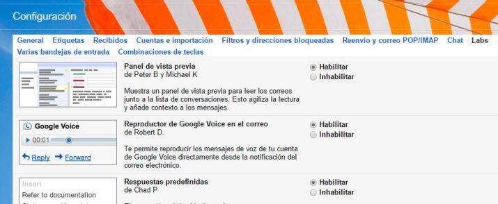 vista previa de tus mensajes de Gmail