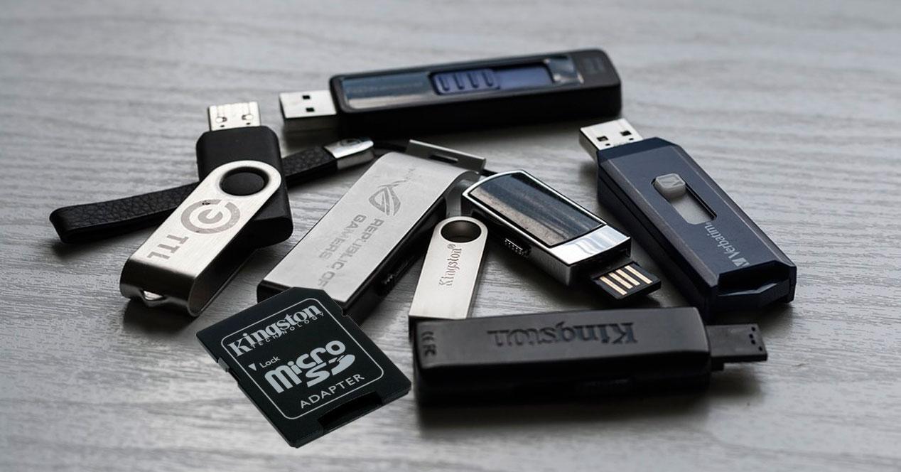 memoria USB dañada