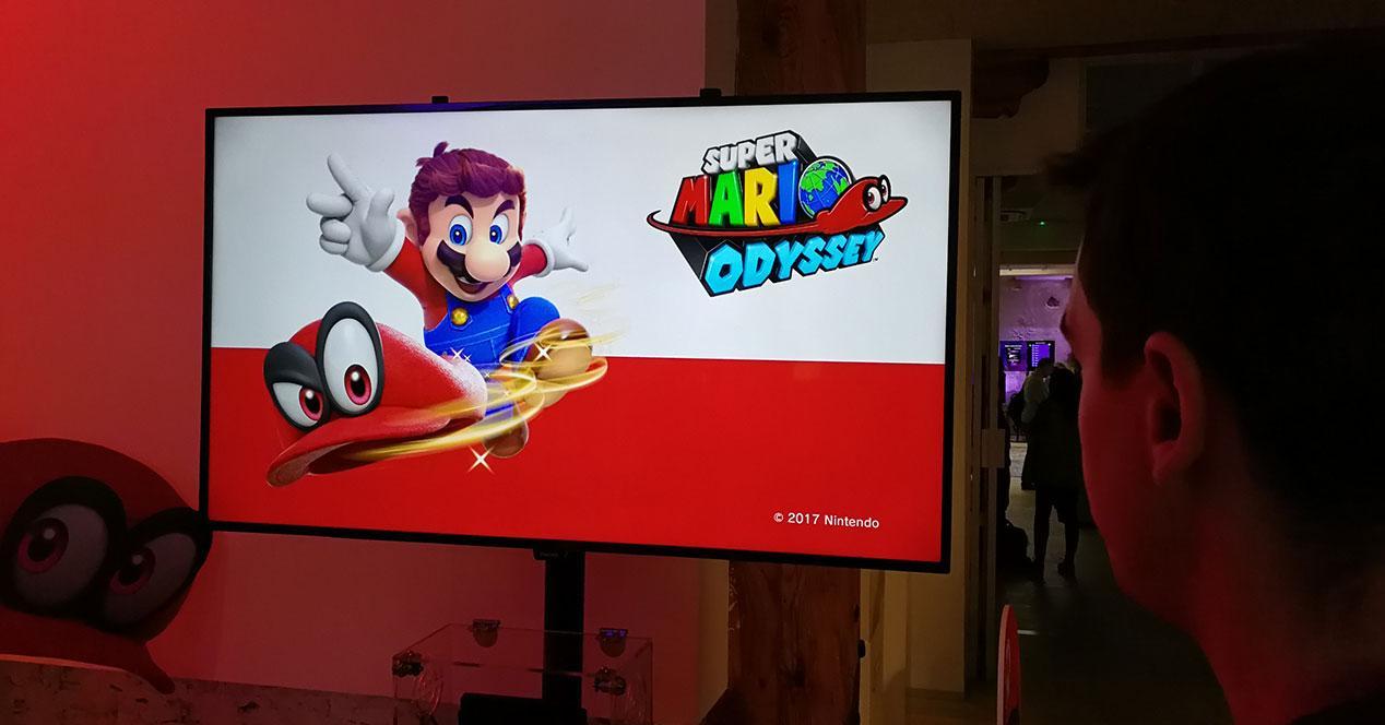 Mario Oddisey en pantalla