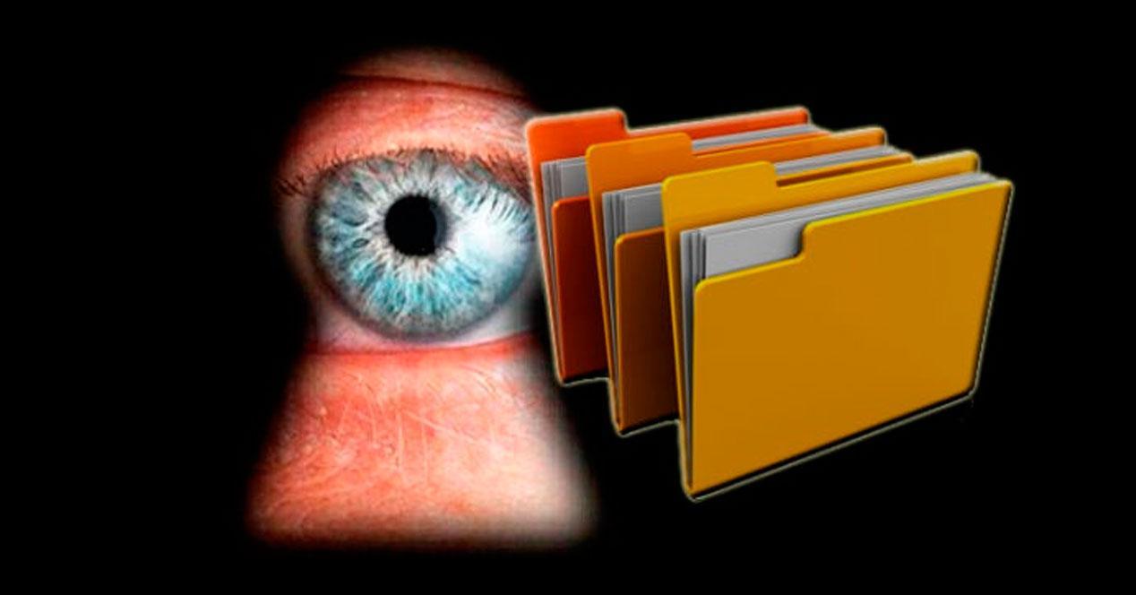 ocultar archivos y carpetas