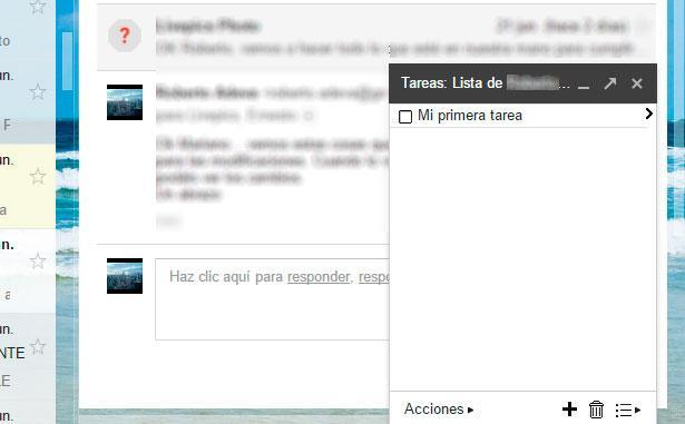 tareas de Gmail