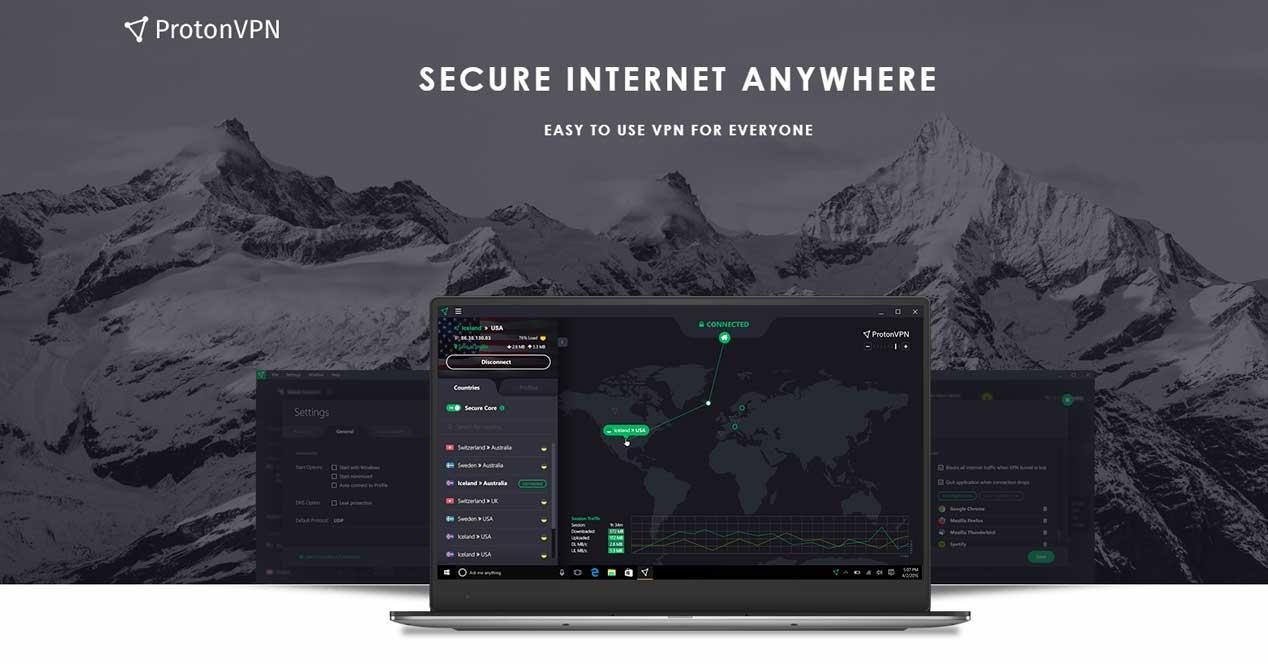 Proton VPN, servicio VPN gratis de los creadores de ProtonMail