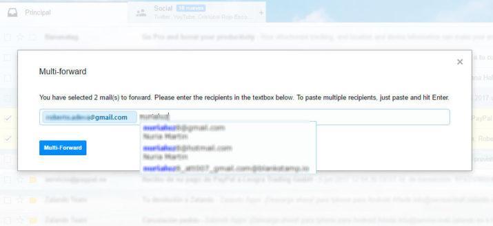 Gmail reenviar