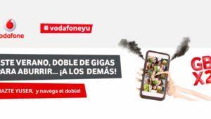Vodafone regala el doble de gigas para navegar gratis en prepago