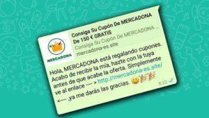 Un cupón de 150 euros en Mercadona por WhatsApp, otra estafa viral