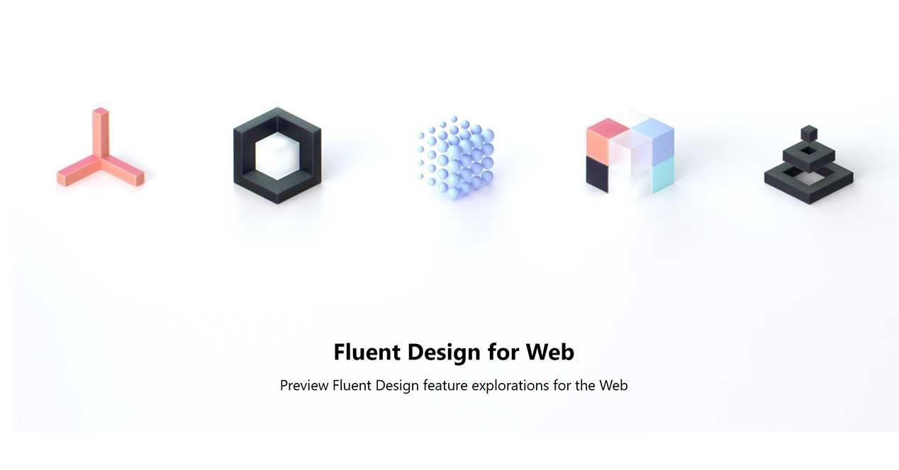 windows 10 fluent design web