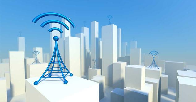 diagrama de antenas de telefonia en una ciudad