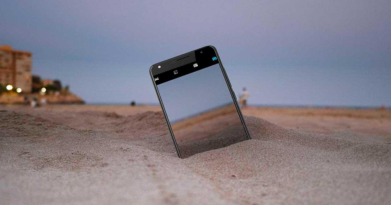 movil fotografia playa