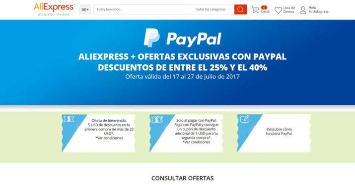 Pagar con PayPal en AliExpress: condiciones, comisiones