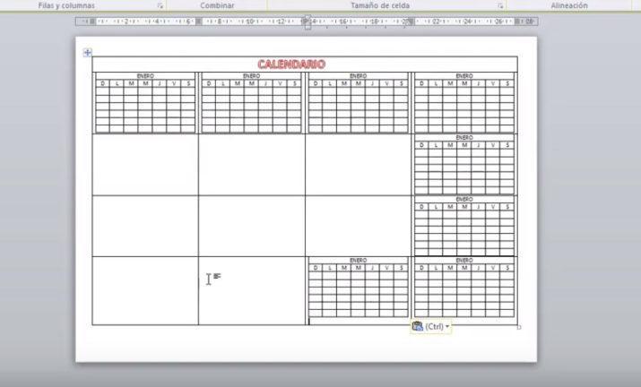 Como Hacer Un Calendario En Word.Como Crear Un Calendario Escolar Personalizado En Word