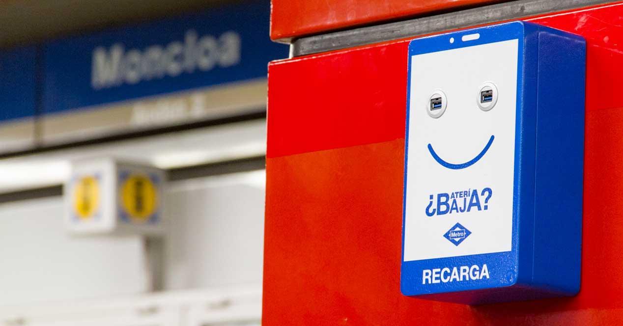 cargador movil gratis metro de madrid