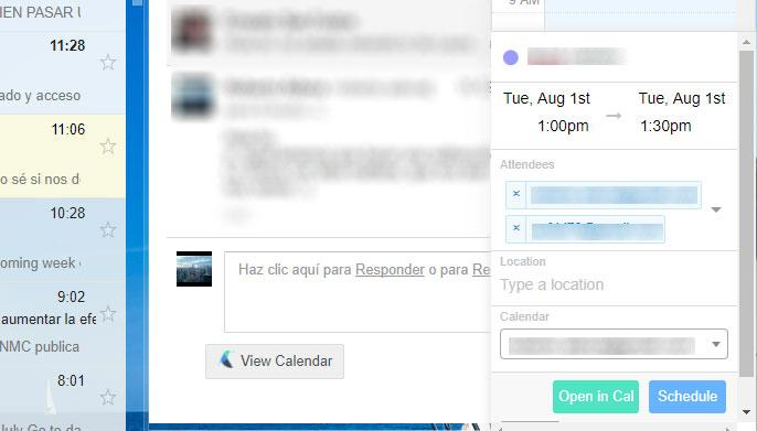 Calendario de Google desde Gmail