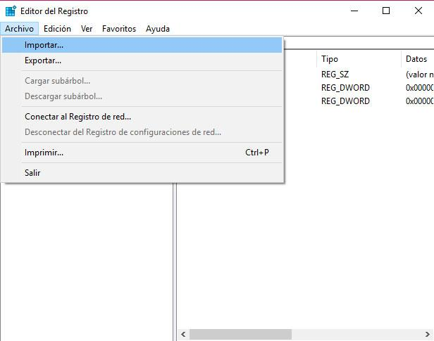copia de seguridad del registro de Windows