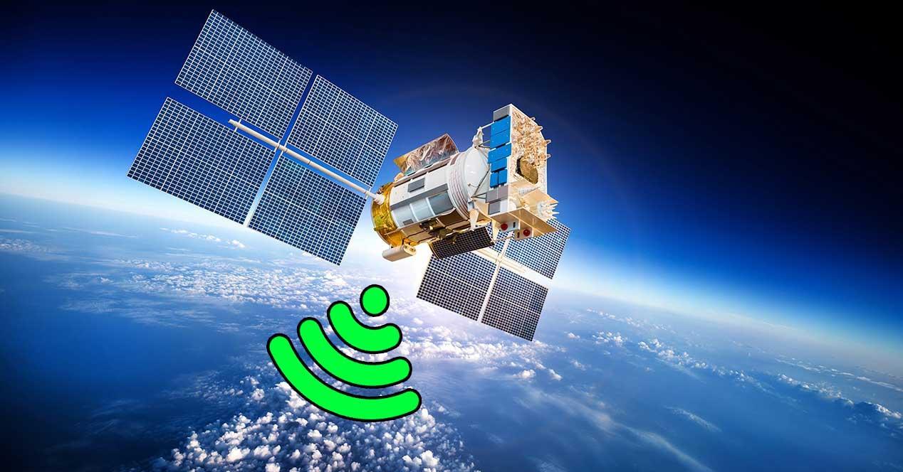 internet vía satélite