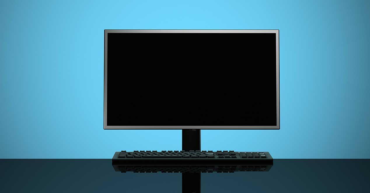 monitor no enciende pantalla en negro