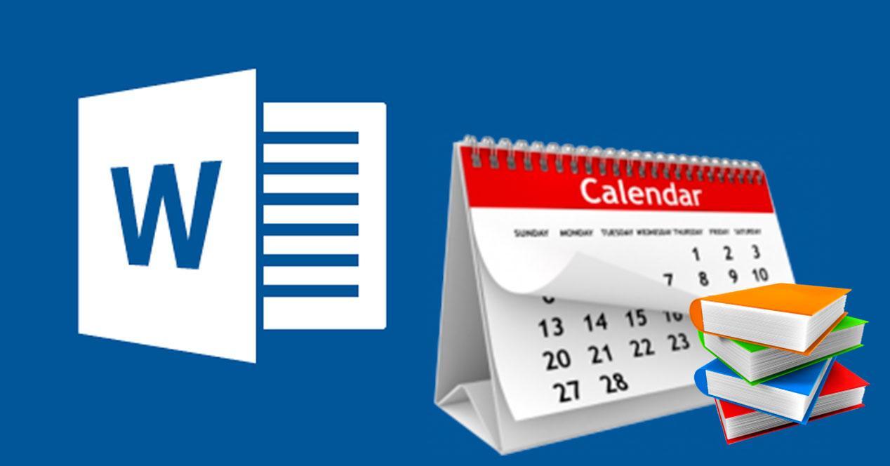 calendario escolar en word