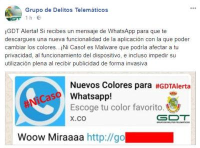 colores de WhatsApp