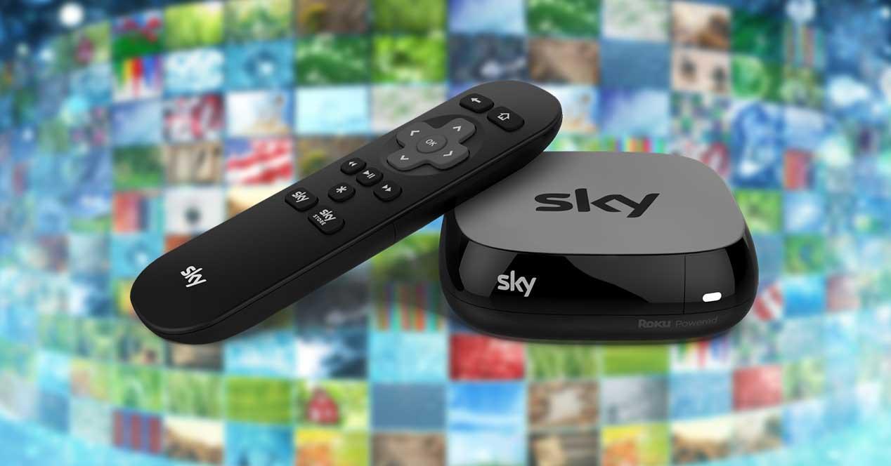 sky tv box roku
