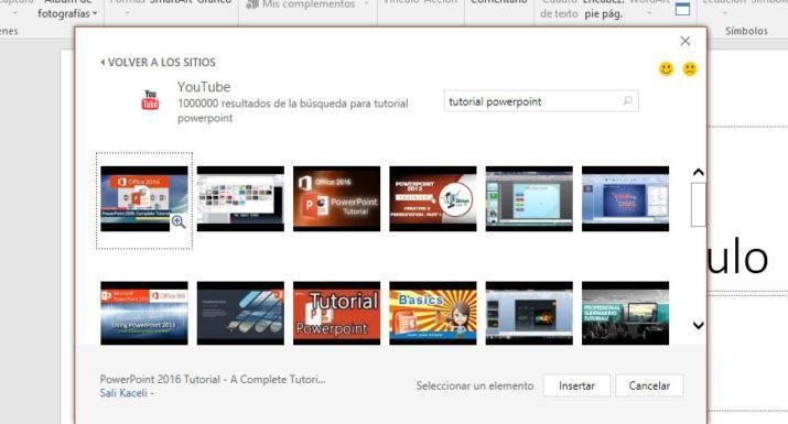 vídeo de Youtube en PowerPoint