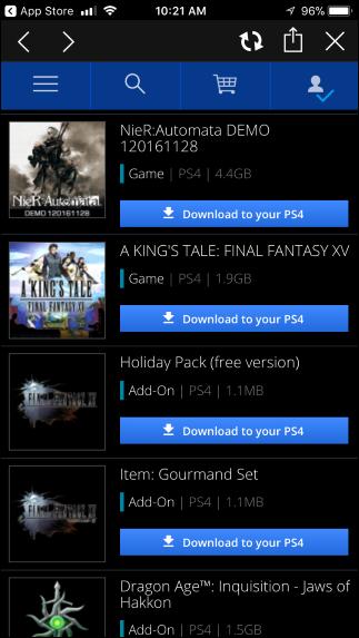 descargar juegos a tu PS4