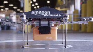 Amazon patenta un drone para cargar coches eléctricos en circulación