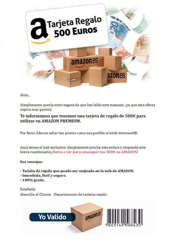 tarjeta regalo de 500 euros de Amazon