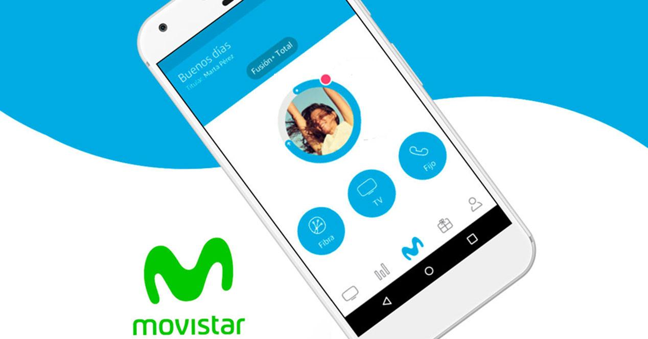 app mi movistar en un smartphone