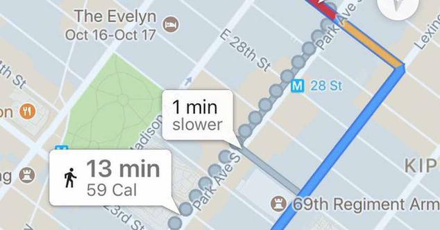 Ver noticia 'Google retira las calorías quemadas de Google Maps'