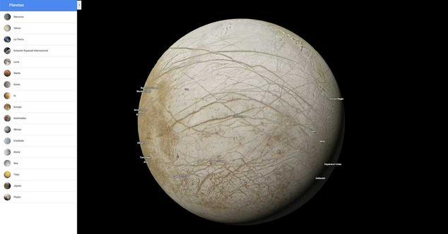 Ver noticia 'Google Maps ahora permite explorar otros planetas y satélites'