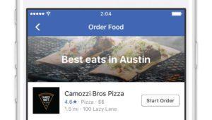 Facebook ahora permite pedir comida a domicilio: ¿adiós a Just Eat?