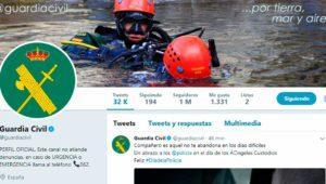 La Guardia Civil supera el millón de seguidores en Twitter