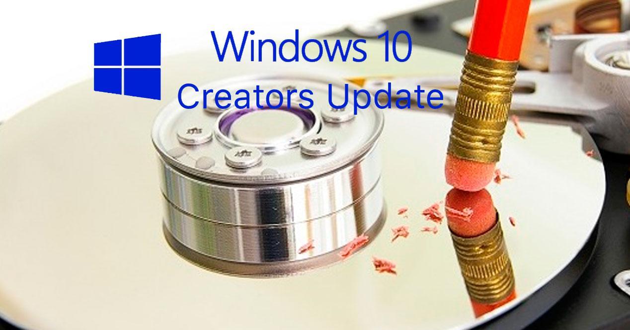 liberar espacio windows 10 fall creators update